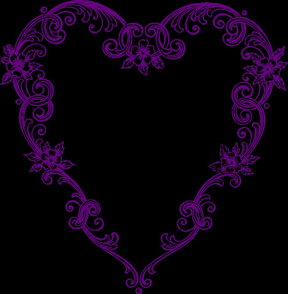 Clipart heart wedding. Free vintage fancy hearts
