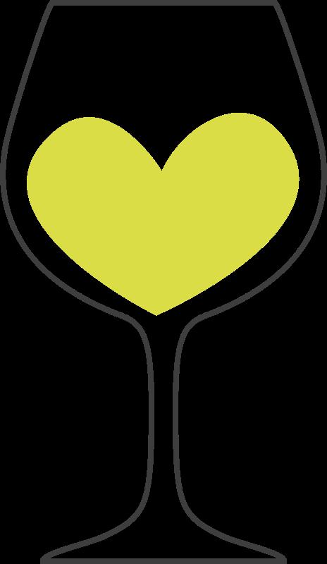 Clipart heart wine. Love of white medium