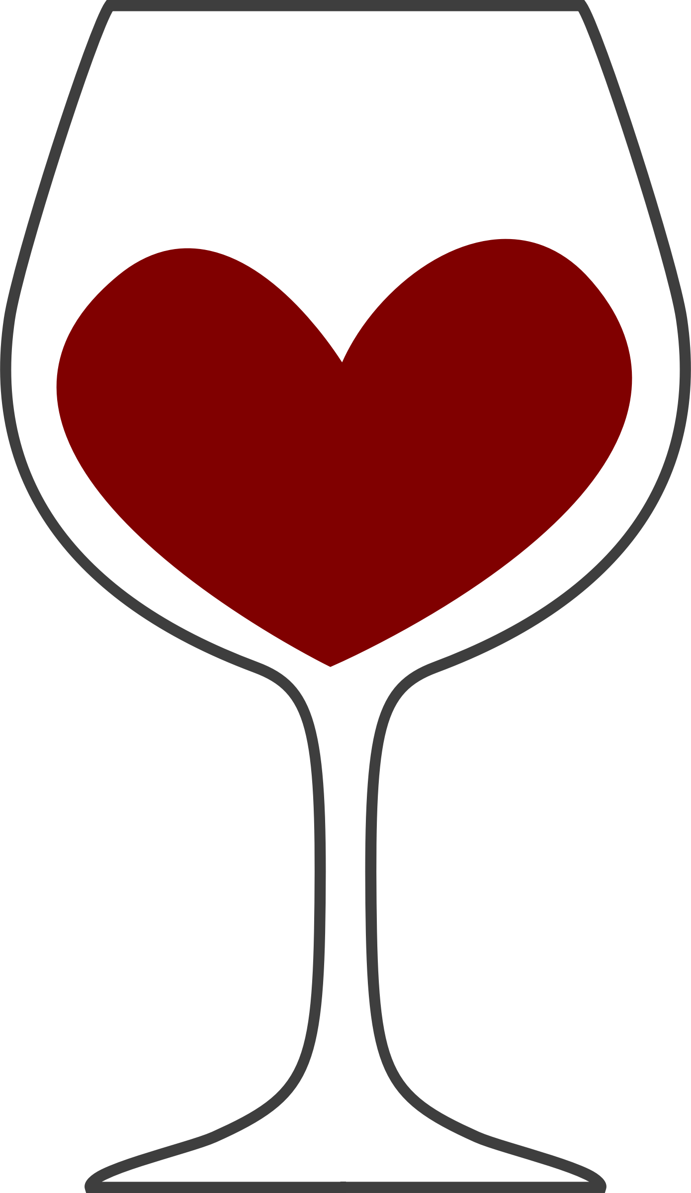 Love of red big. Clipart heart wine
