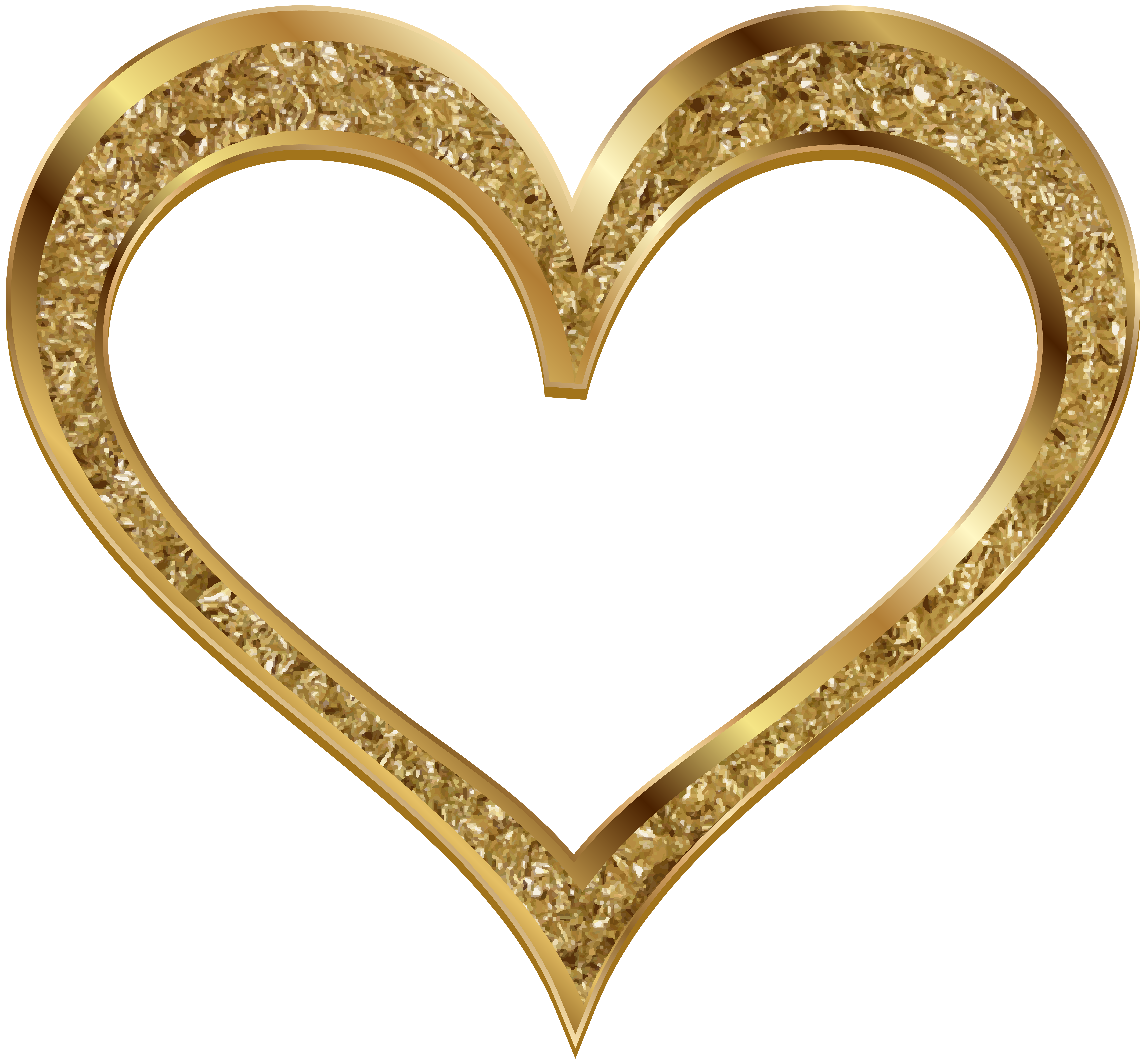 Gold heart clip art. Winter clipart accessory