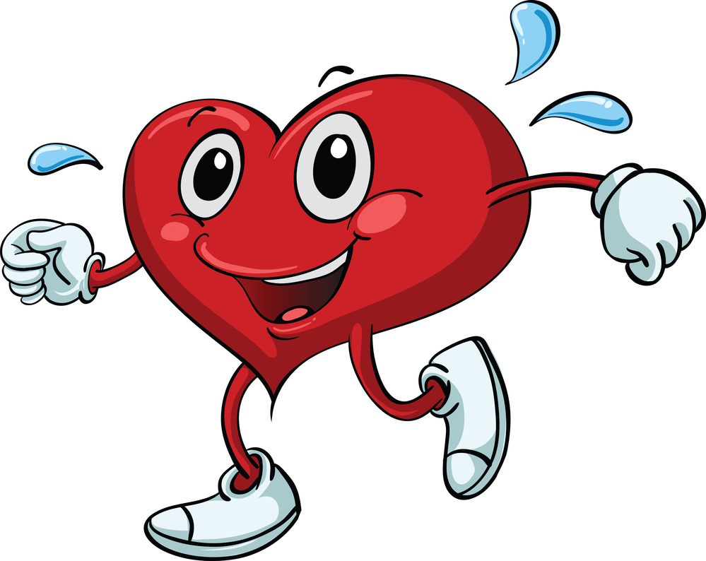 Fitness heart cliparts zone. Clipart hearts workout