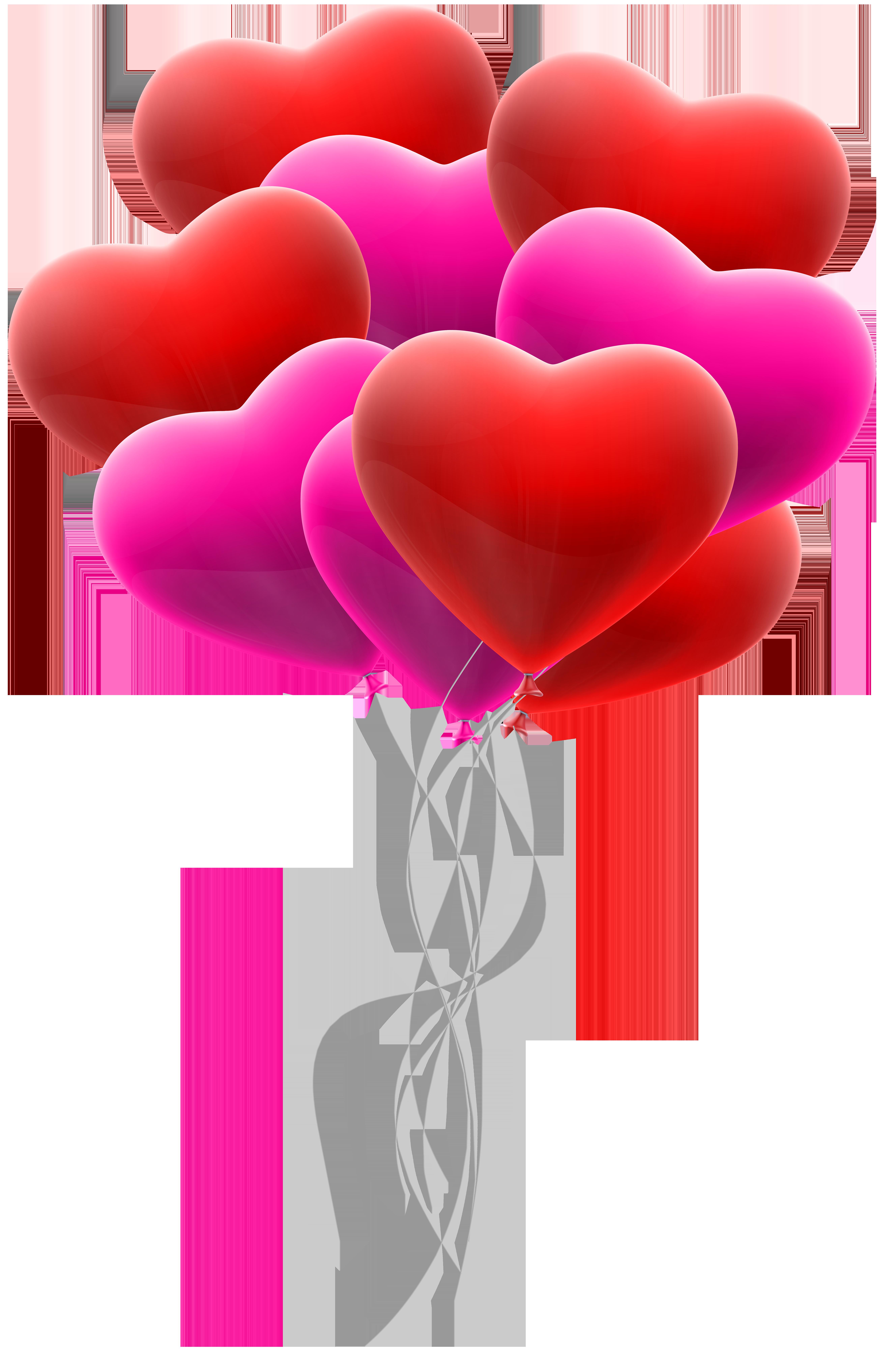 Bunch transparent clip art. Clipart hearts balloon
