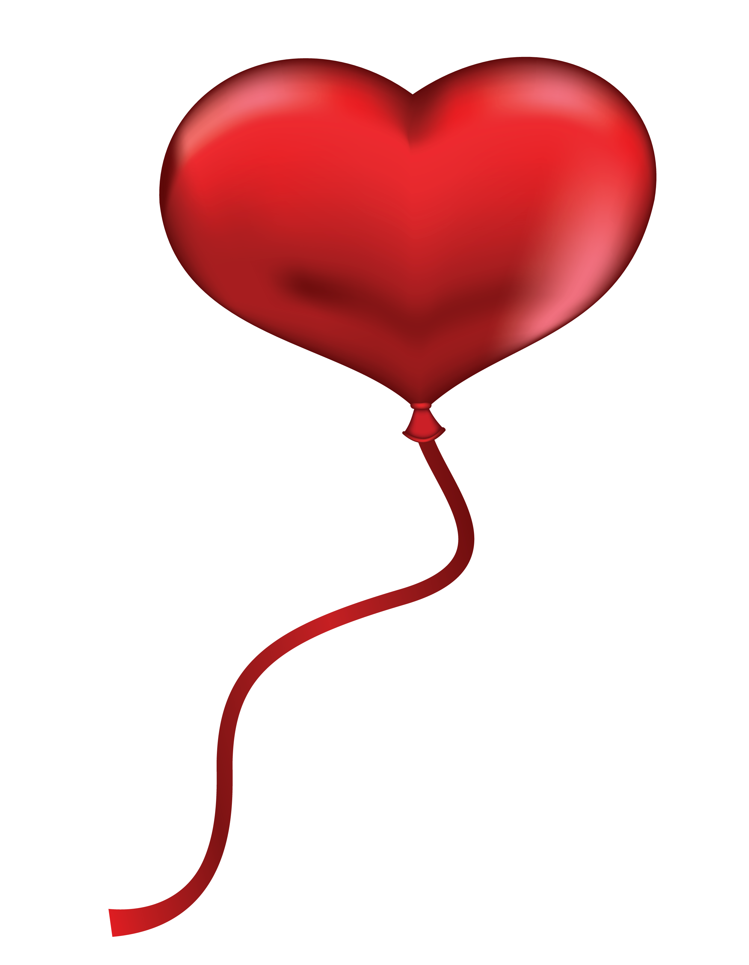 Red heart png picture. Clipart hearts balloon