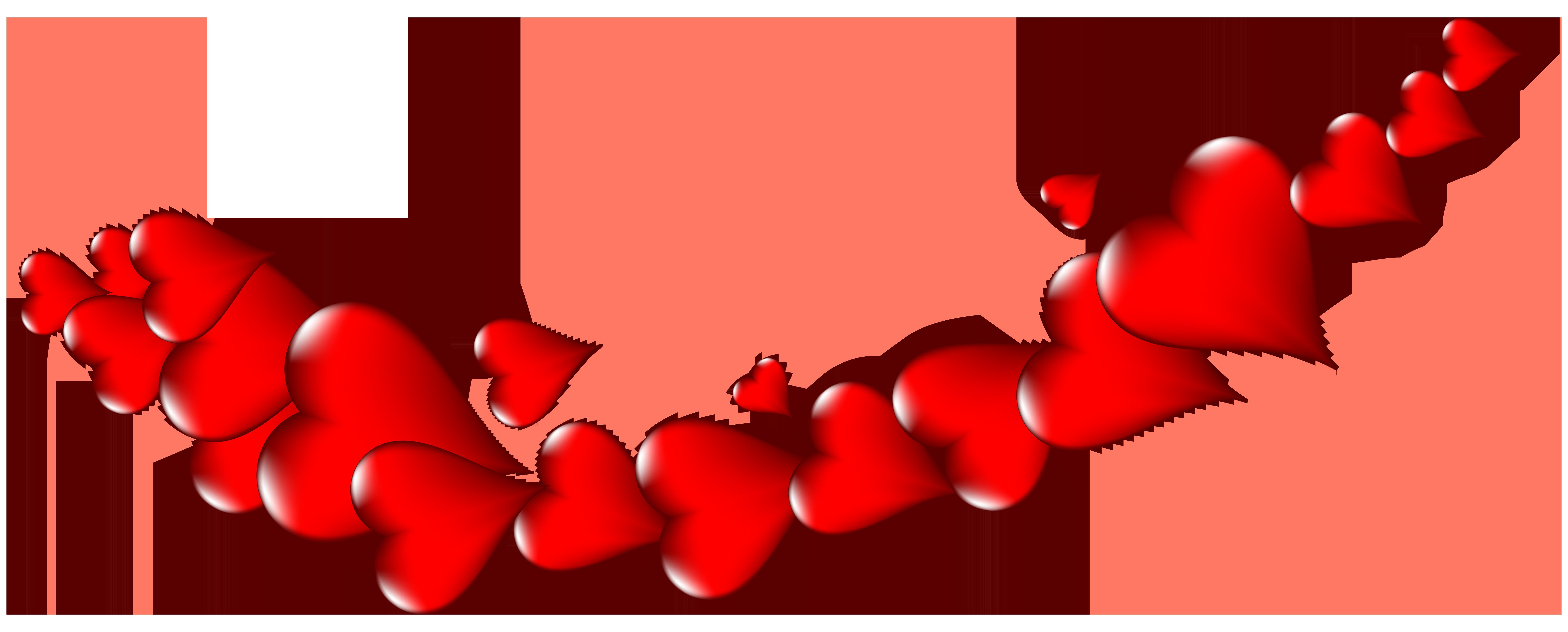 Decor png clip art. Clipart hearts banner
