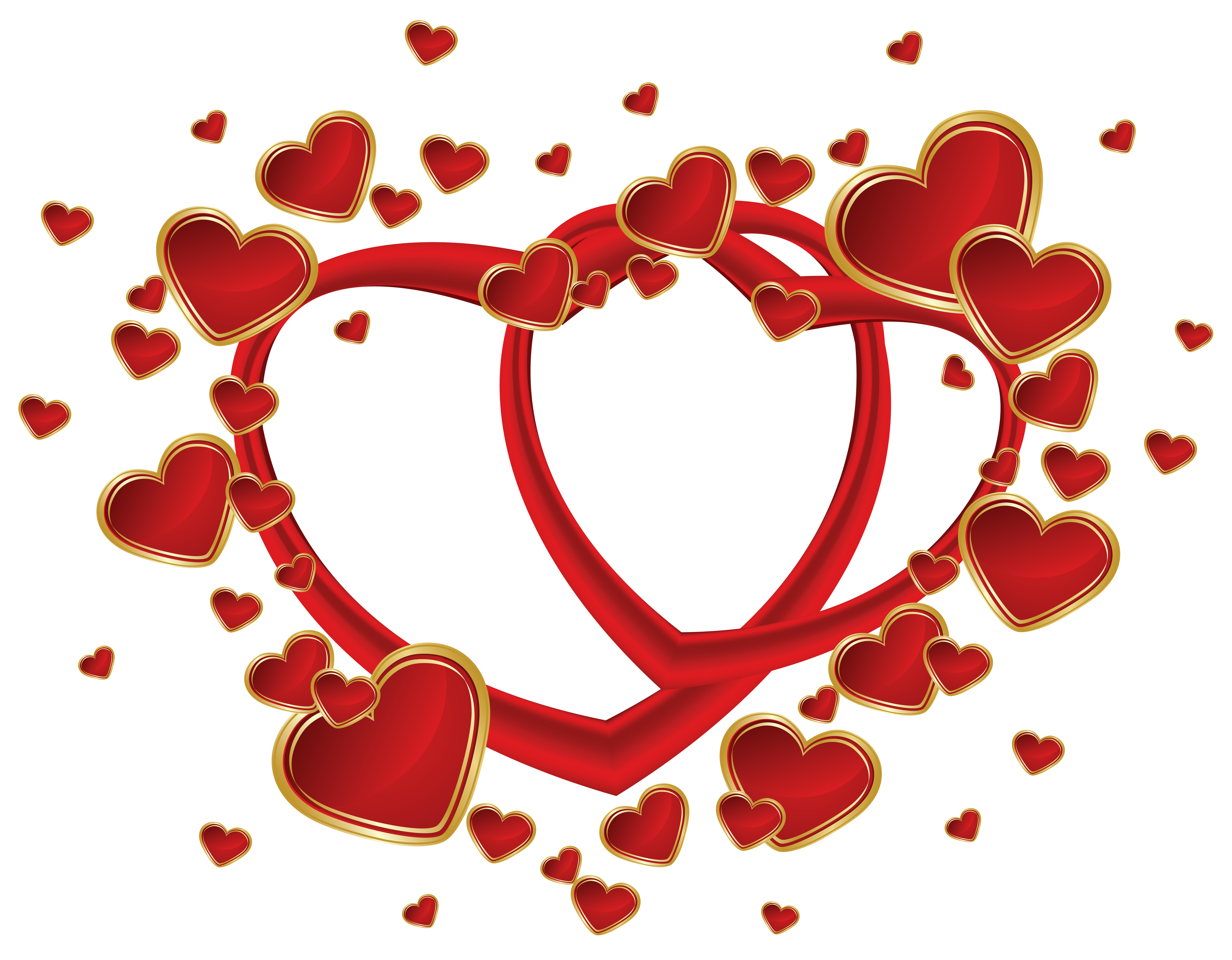 collection of clipart. Transparent hearts png