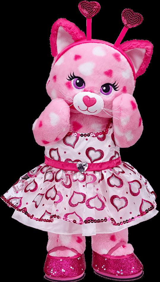 Hearts clipart bear. Babw huggable kitty dressed