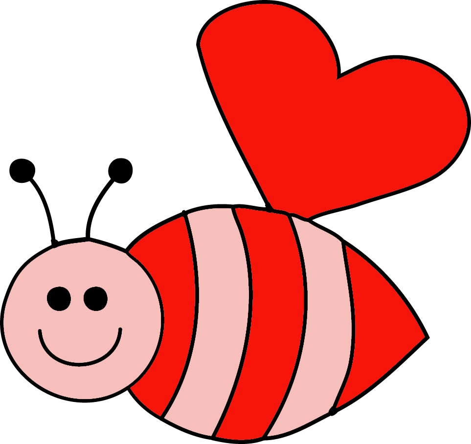 Hearts clipart bee. Granny goes to school
