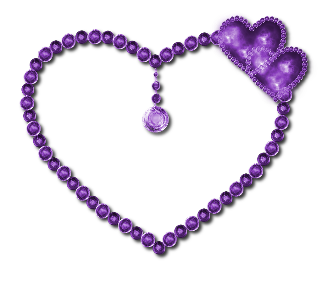 Light heart by jssanda. Hearts clipart purple