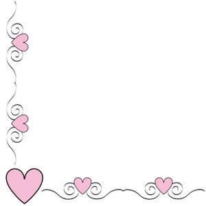 For poster flower hearts. Heart clipart borders