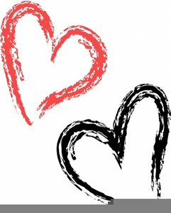 Free images at clker. Heart clipart brush stroke