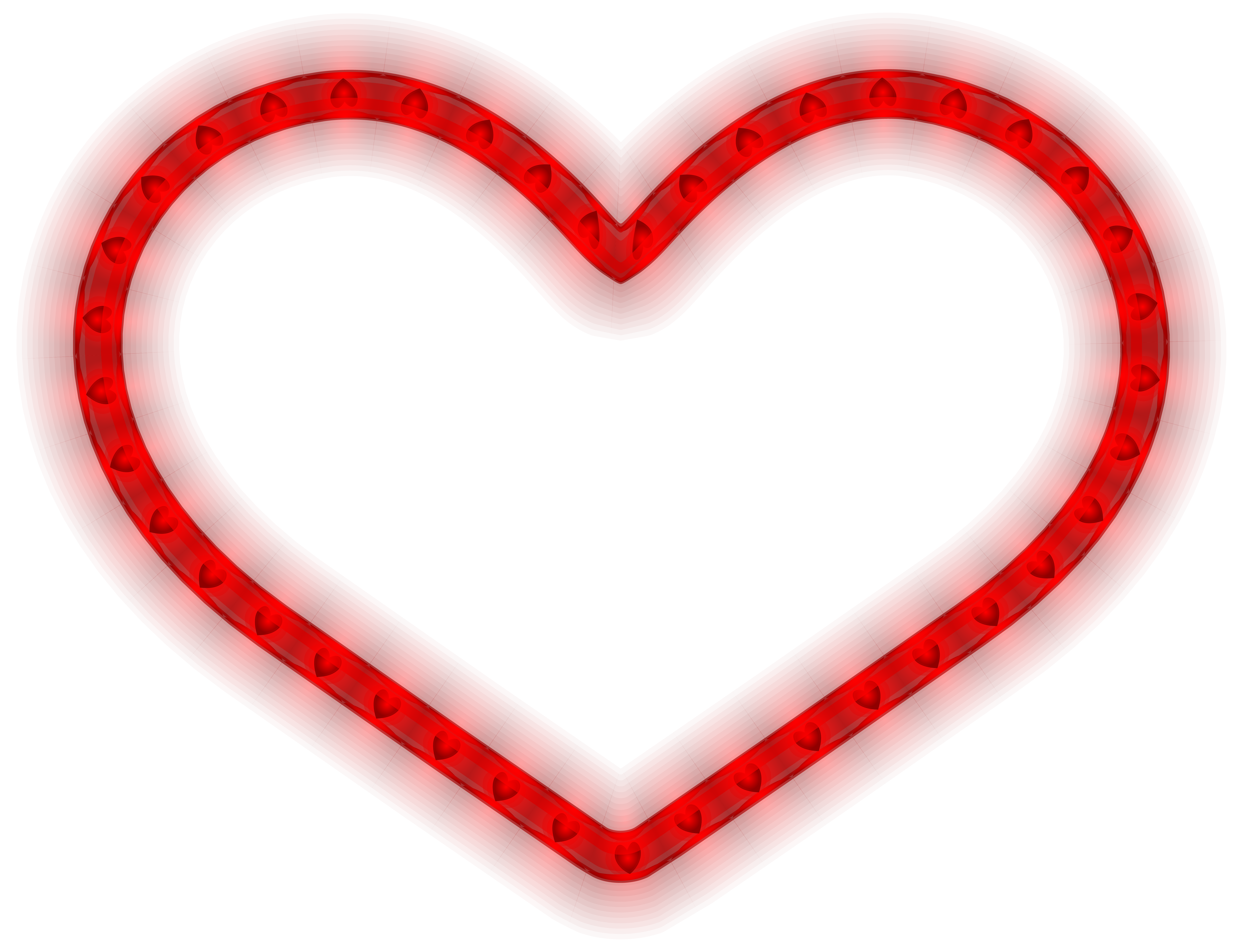 Hearts clipart butterfly. Glowing heart png image