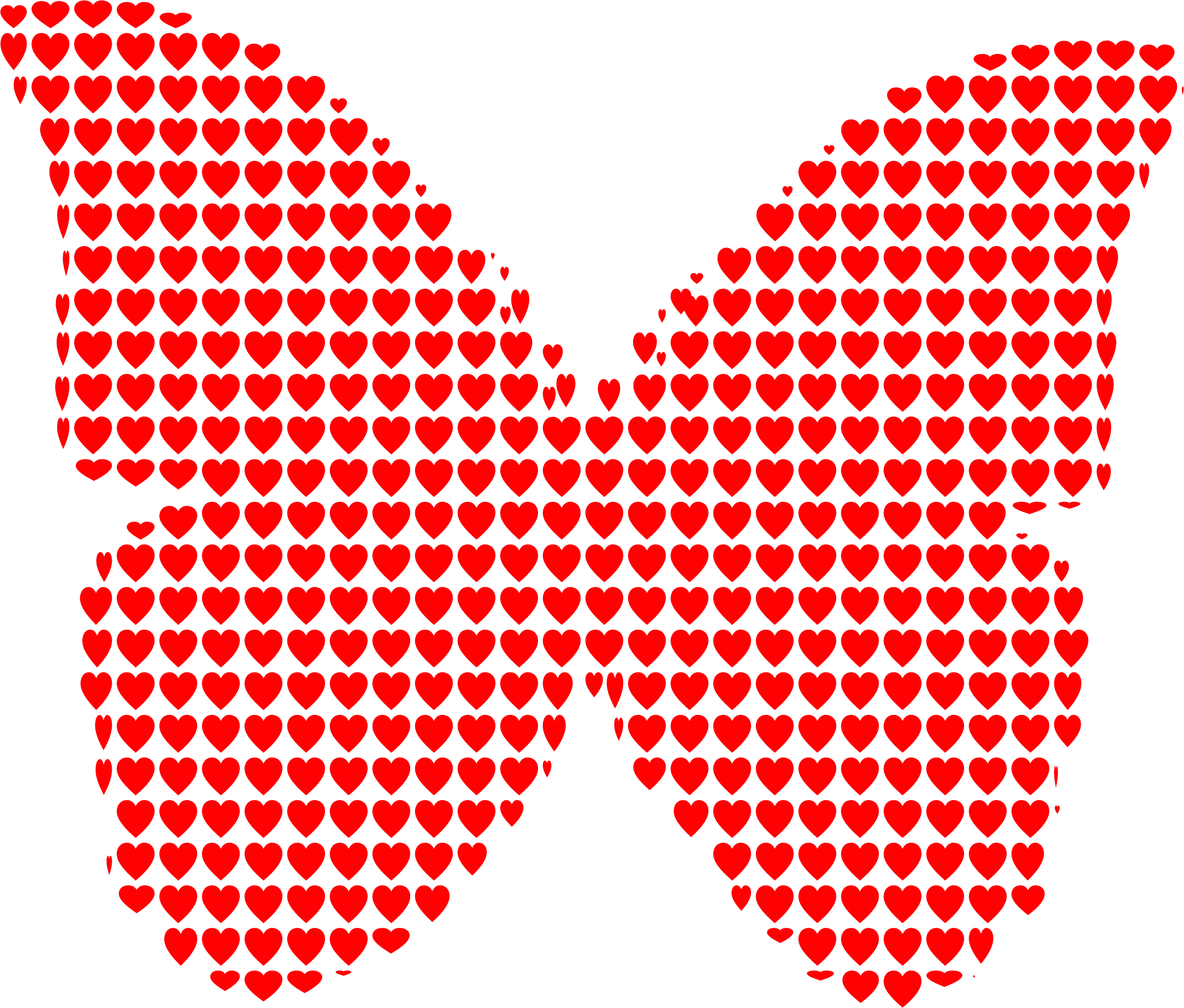 Hearts clipart butterfly. Big image png