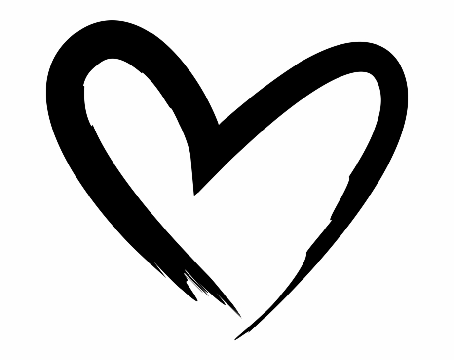 Hand drawn heart transparent. Clipart hearts calligraphy