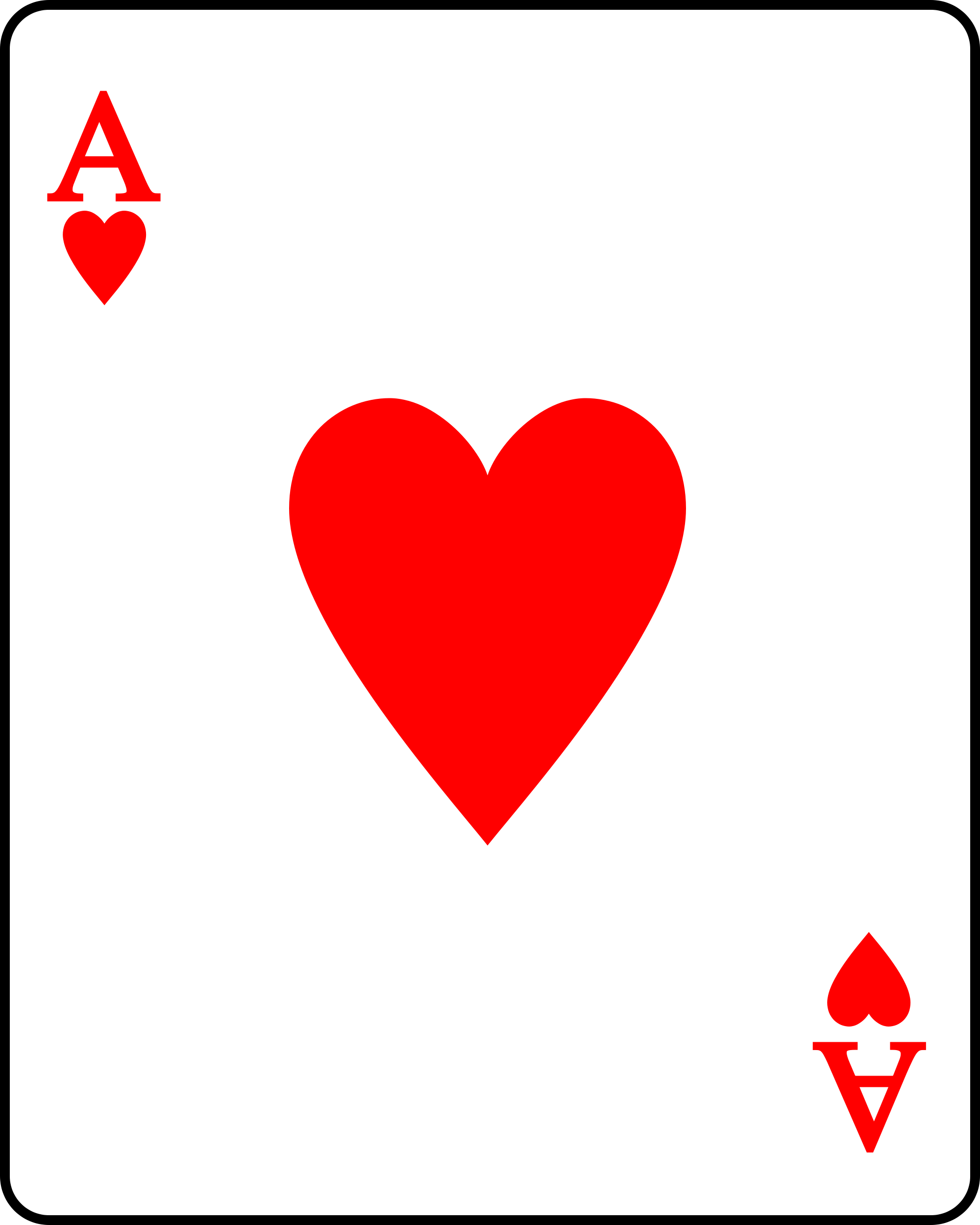Hearts clipart card. Free heart playing cards