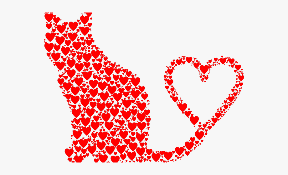 Heart pictures silhouette with. Hearts clipart cat