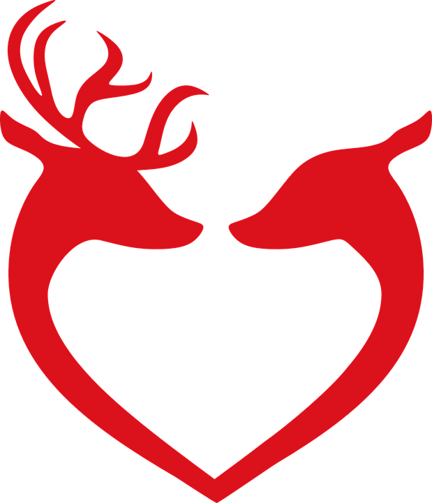 Heart group reindeer love. Clipart hearts christmas