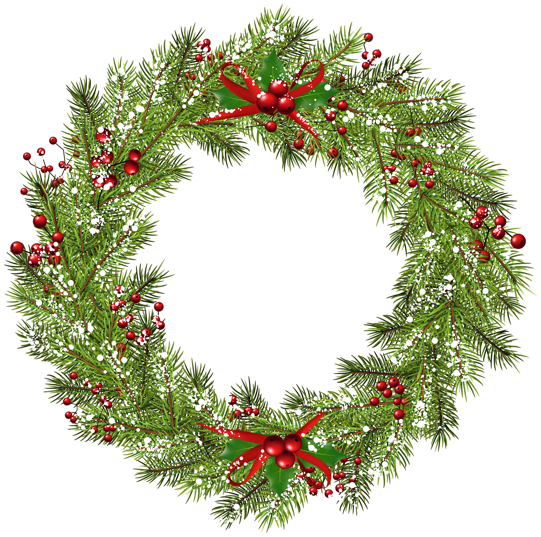 Grains clipart wheat wreath. Christmas png clip art