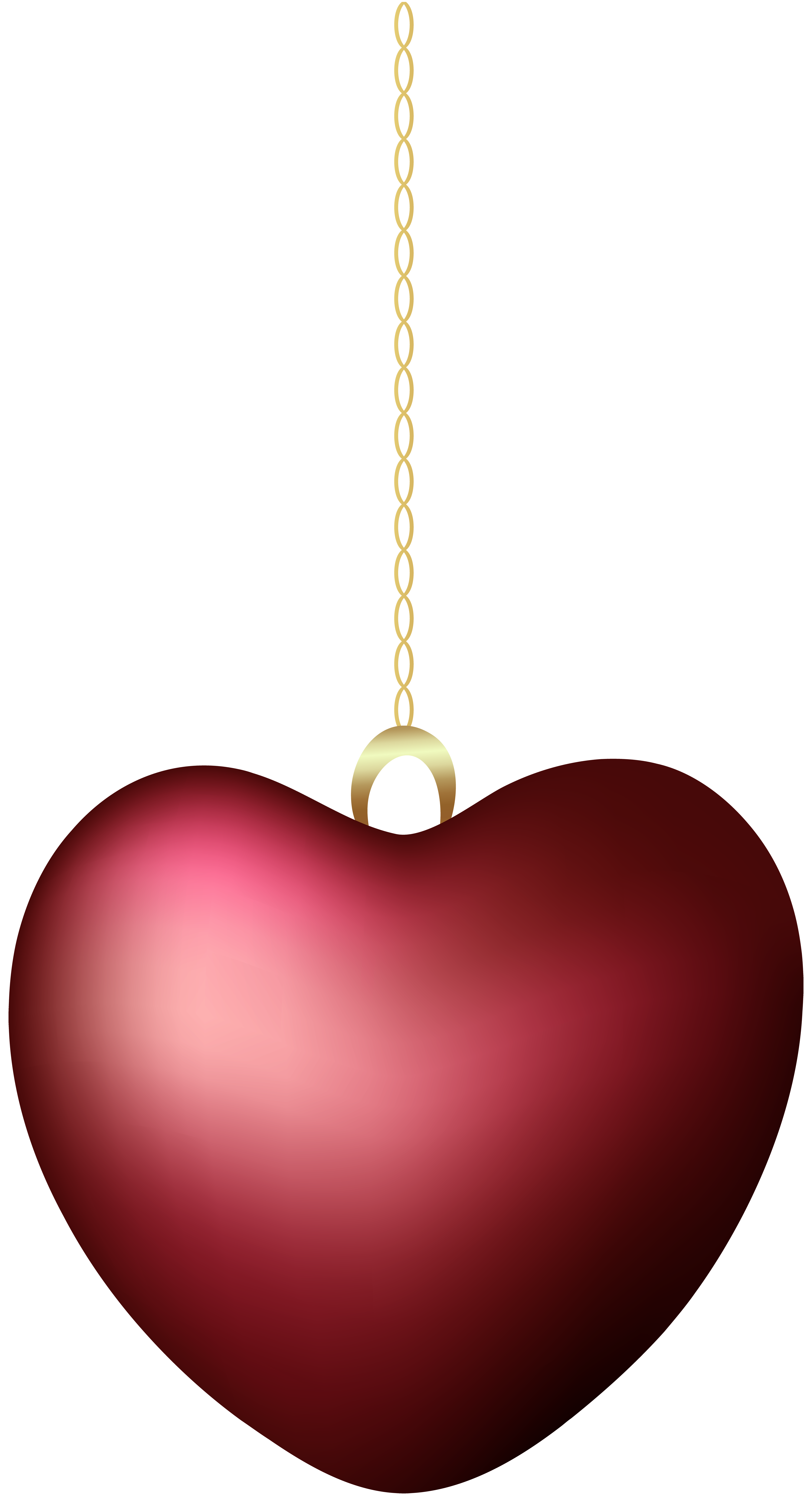 Red hanging heart png. Clipart hearts christmas