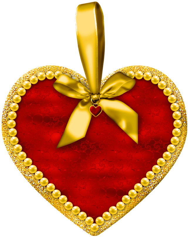Heart with bow png. Clipart hearts christmas