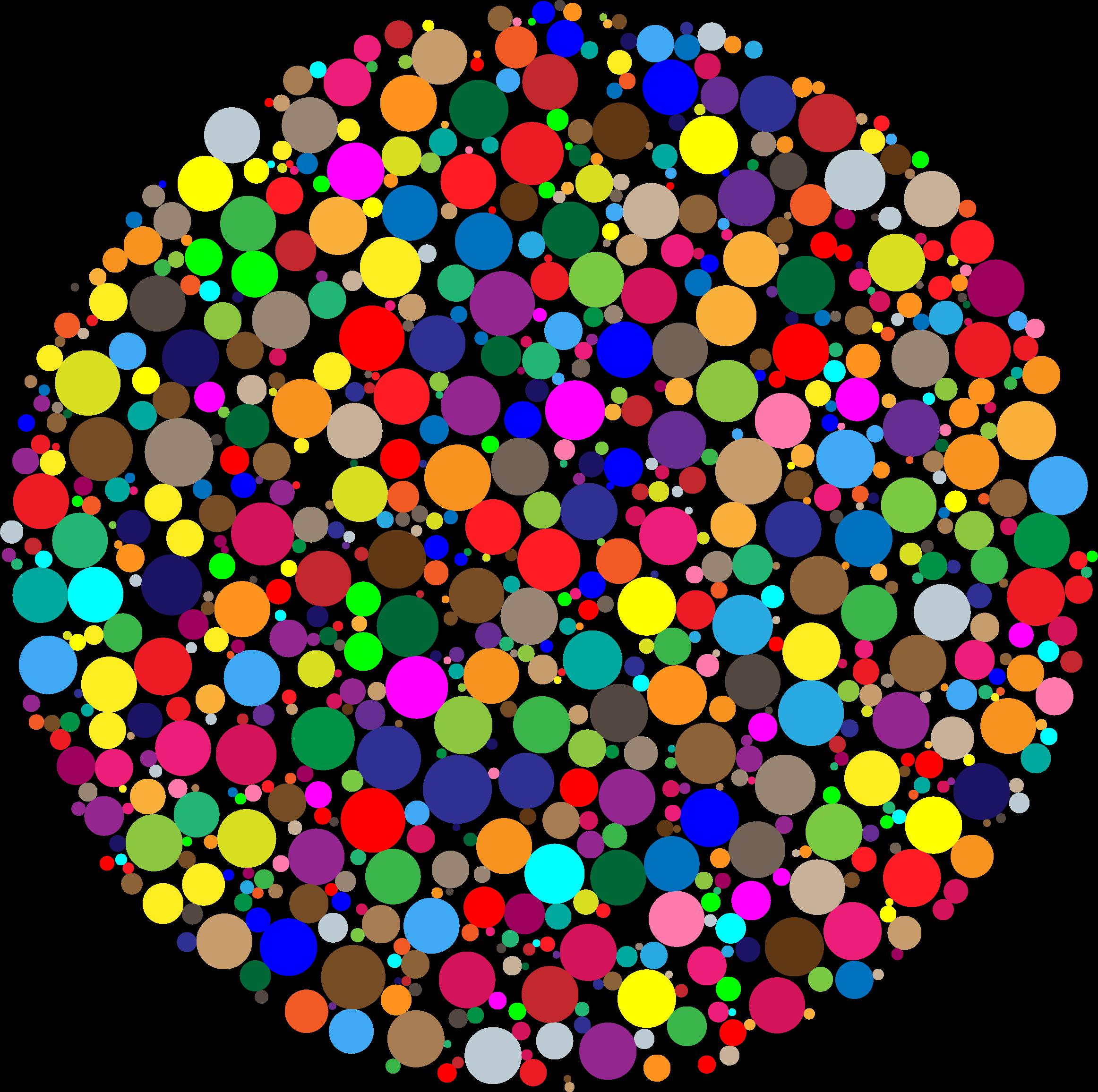 Colorful circle big image. France clipart fractal