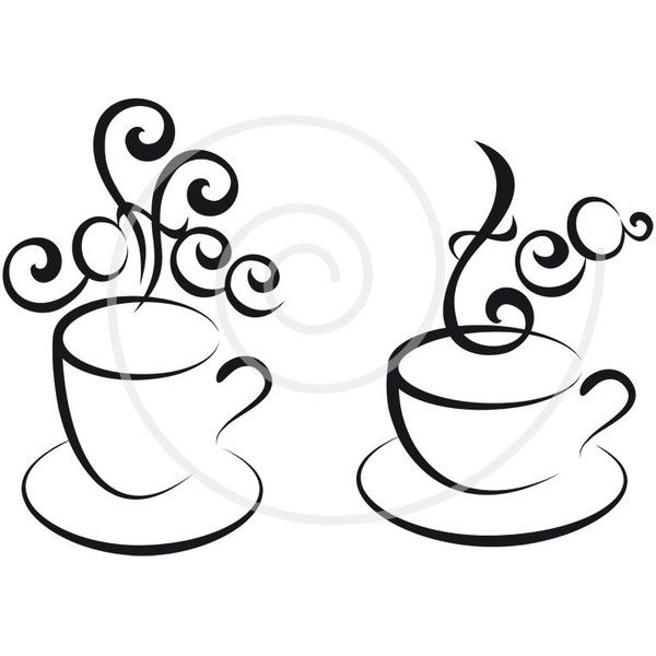 Pin on my polyvore. Tea clipart line art