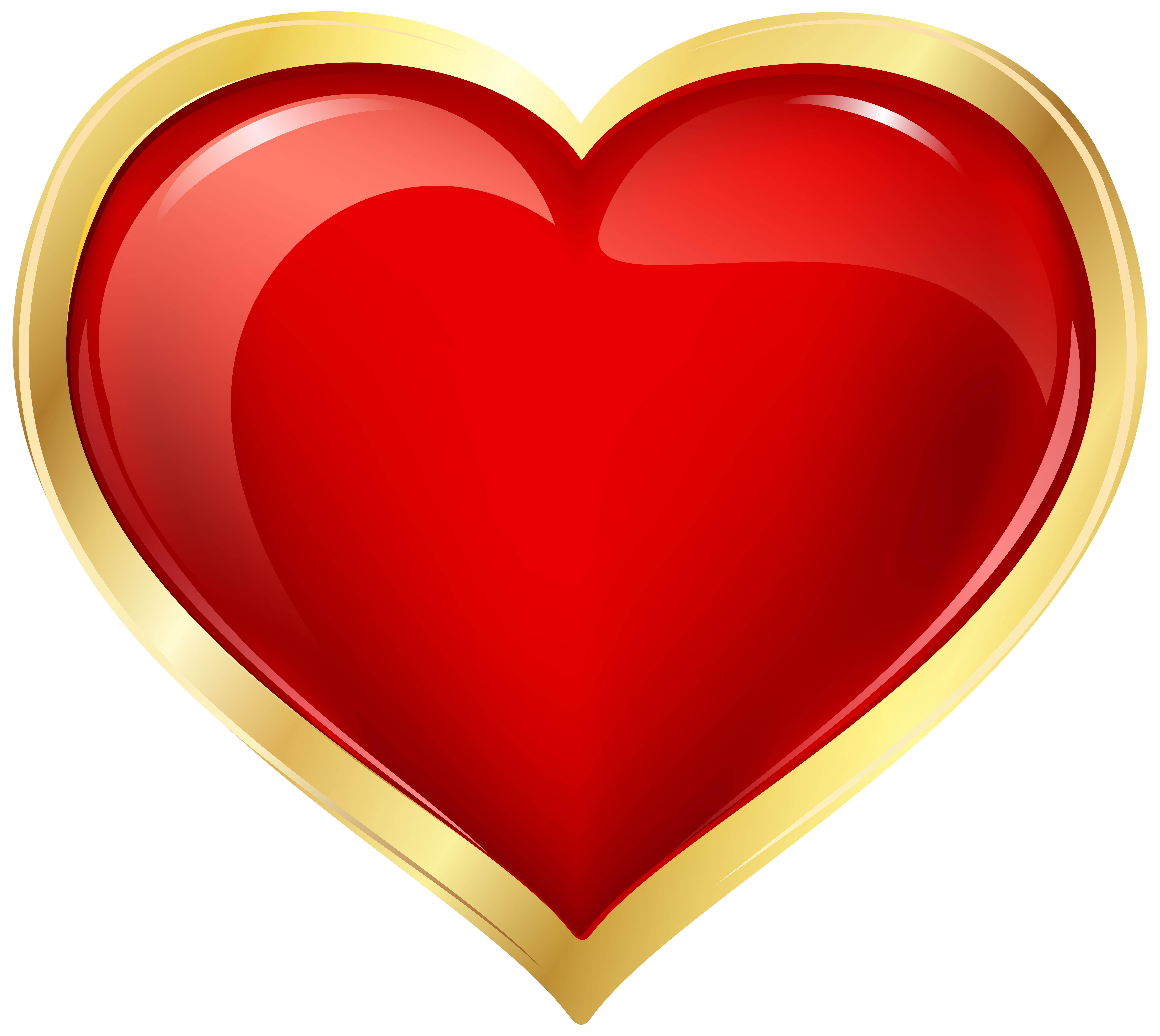 Red and gold heart. Clipart hearts cookie