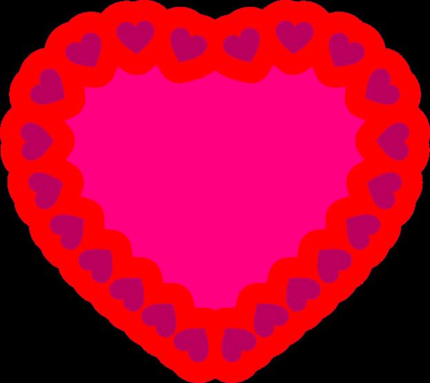 clipart hearts doily