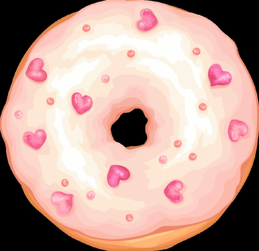 Donut clipart cute. Heart doughnut by rosemoji