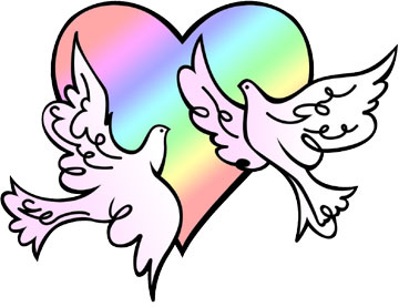 Dove clipart bridal. Free valentine cliparts download
