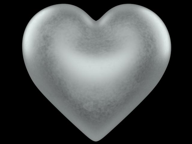 Silver d love heart. Valentine clipart transparent background