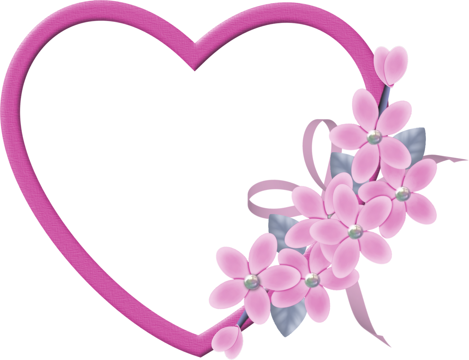 Large pink heart transparent. Clipart hearts flower