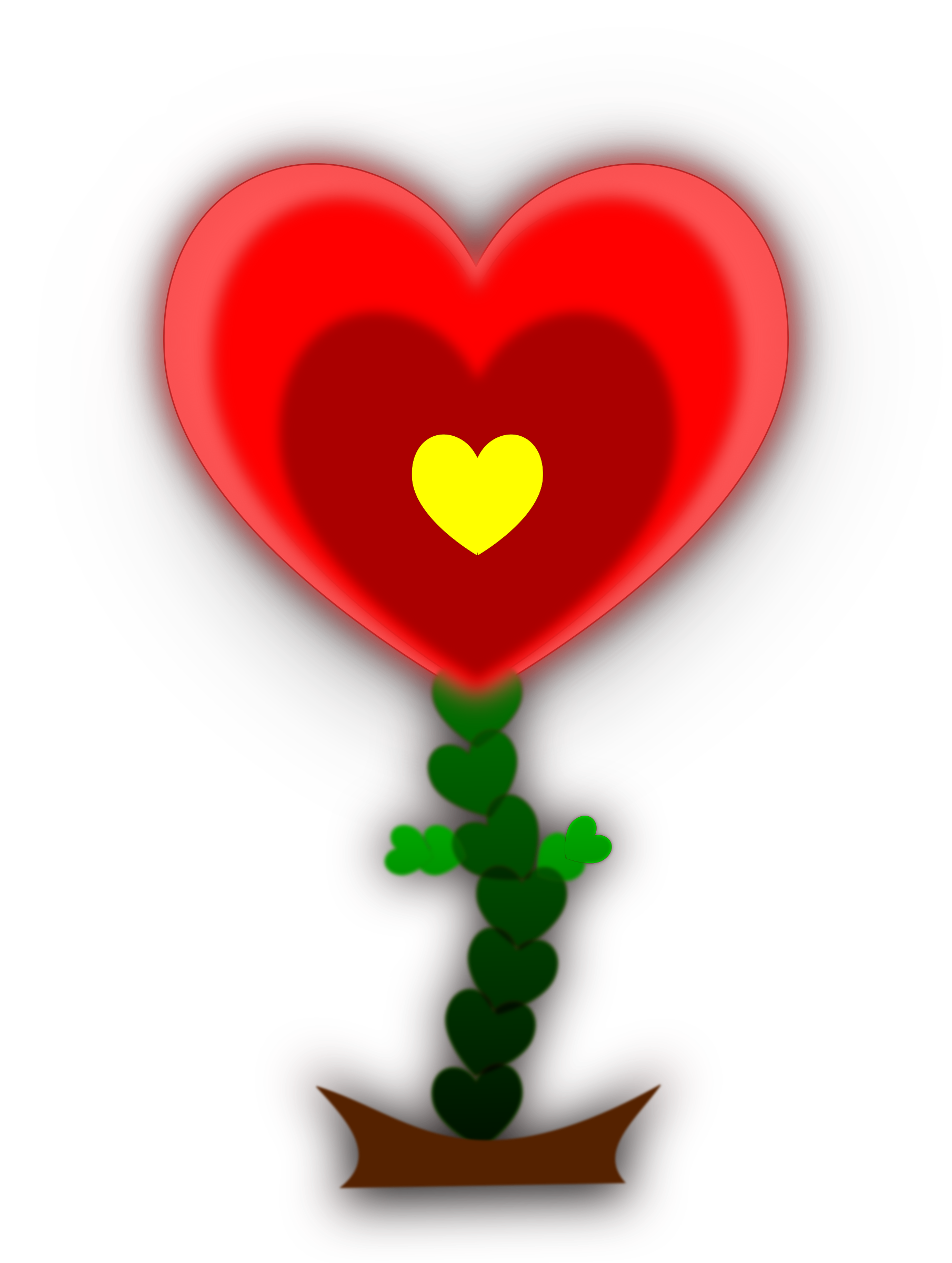 Heart big image png. Clipart hearts flower