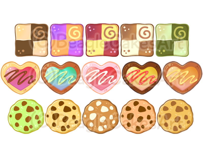 Cookie instant download . Hearts clipart food