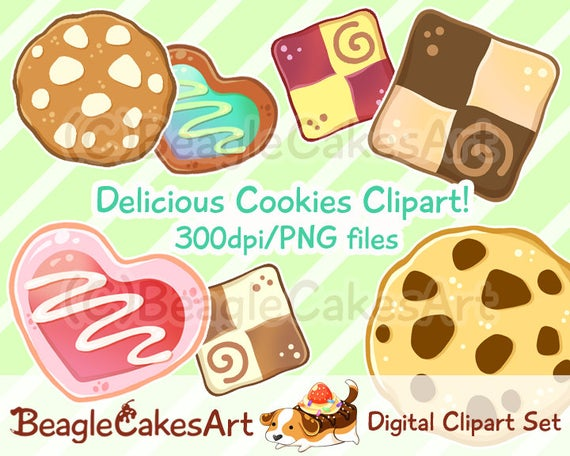 Cookie instant download sweets. Hearts clipart food