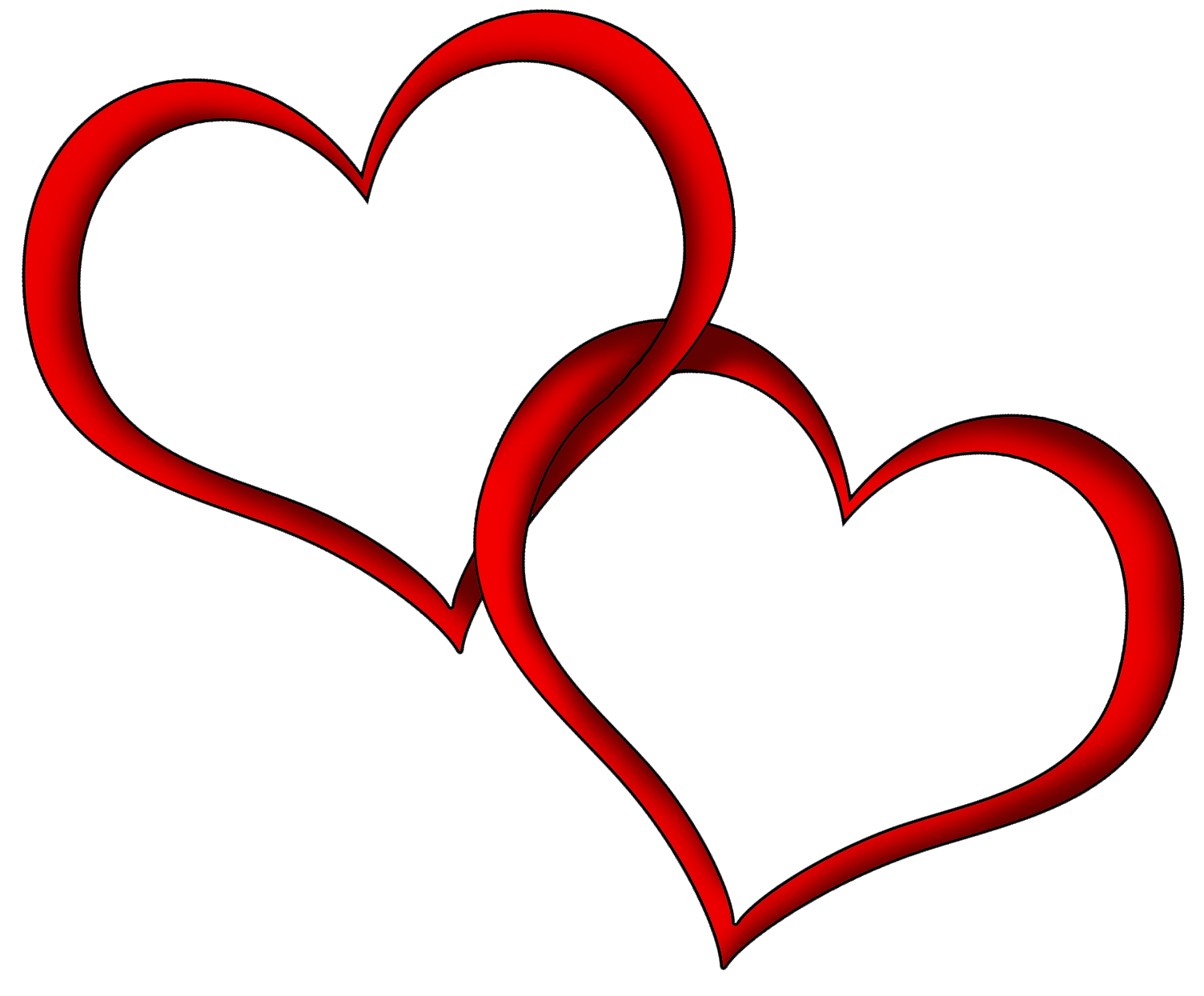 Red hearts clip art. Heat clipart couple heart
