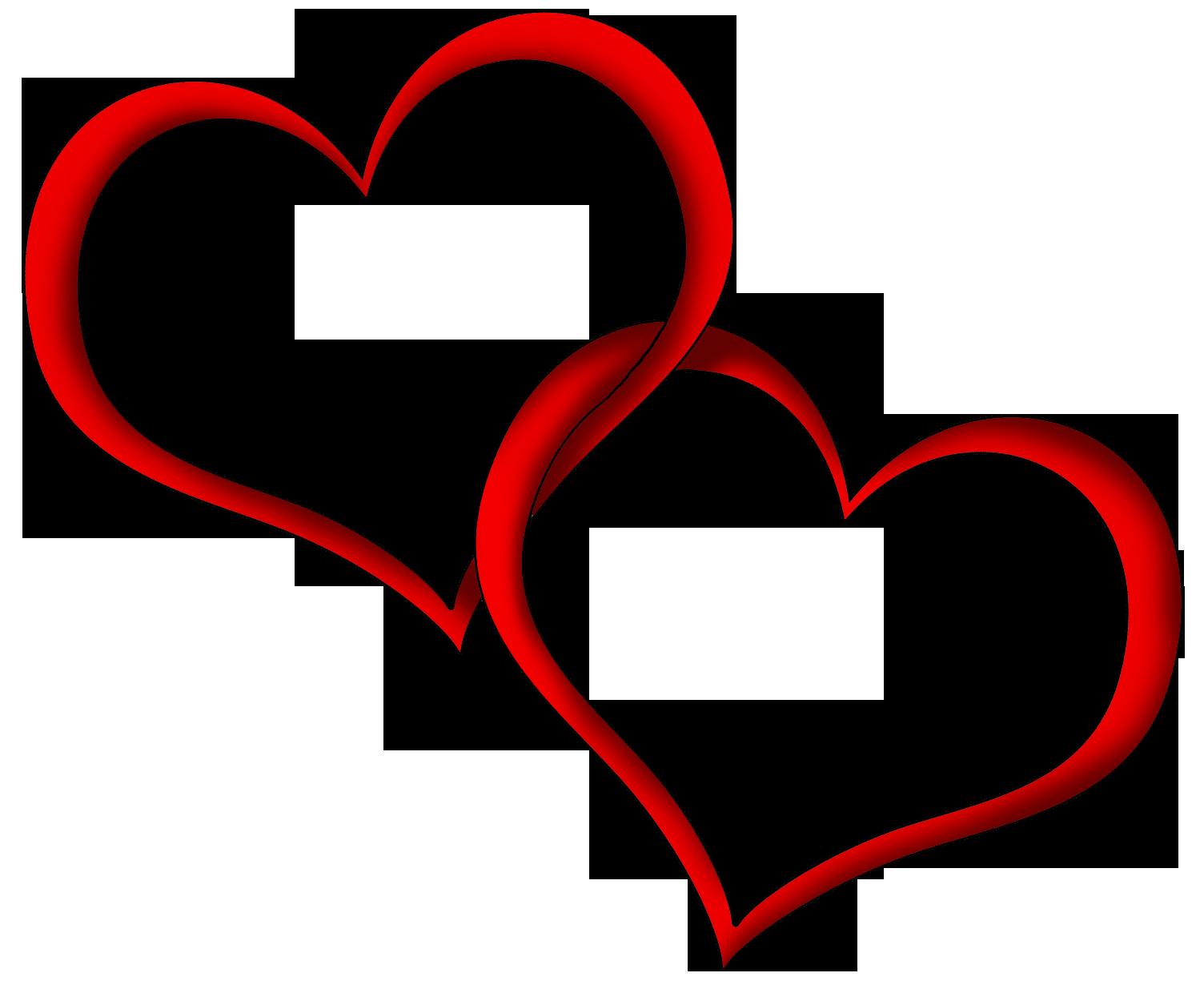 Red hearts clip art. Heart clipart tree