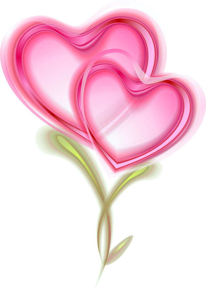 Heat clipart color heart. Two pink hearts so