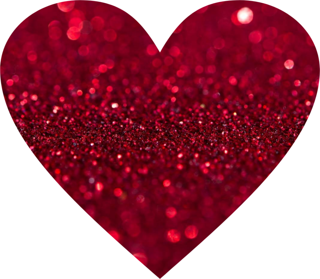 Red love sticker by. Heart clipart glitter