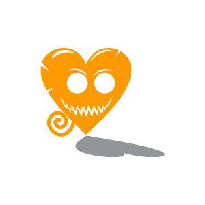 Clipart hearts halloween.