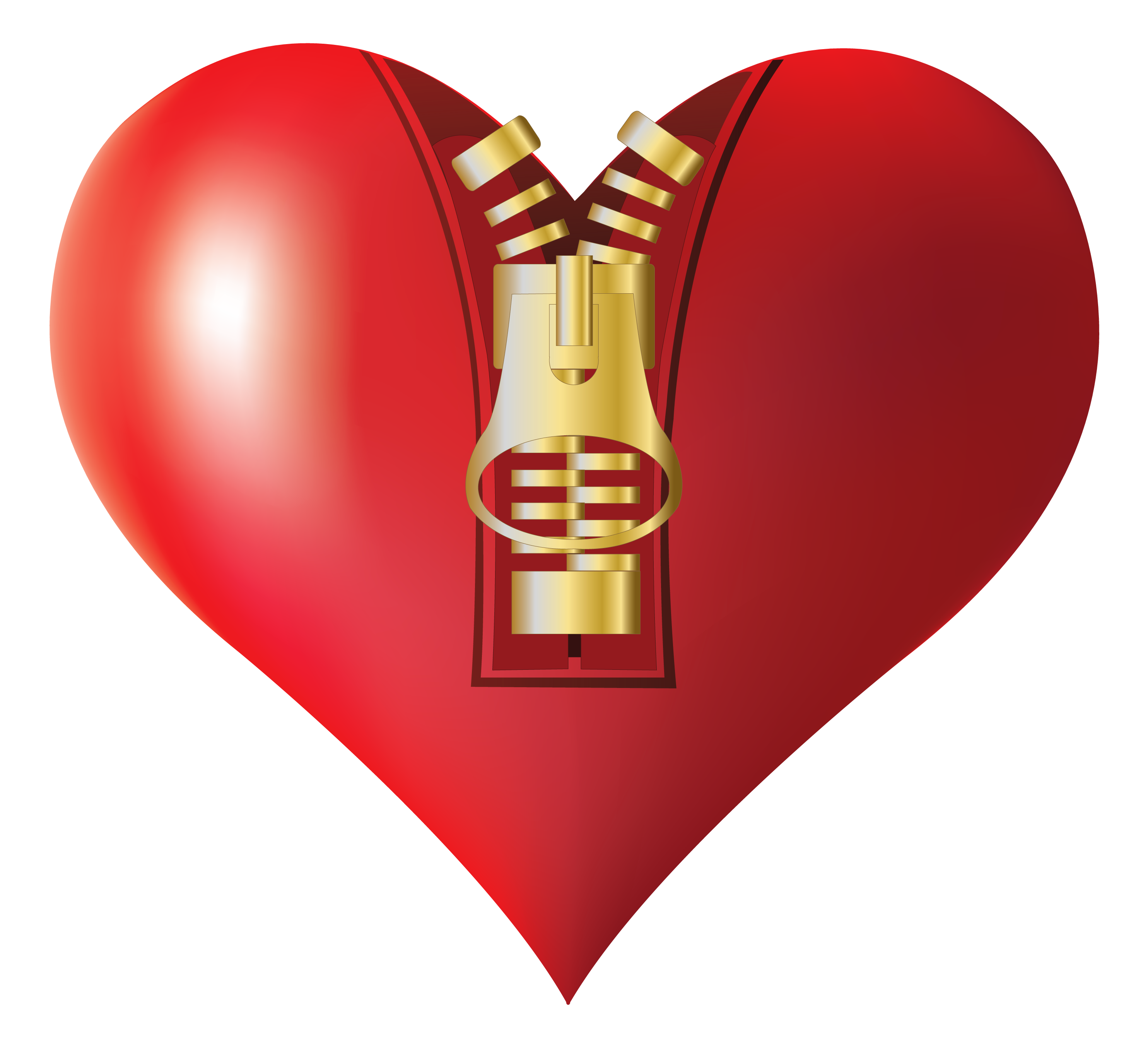 Zipped heart png image. Hearts clipart fruit