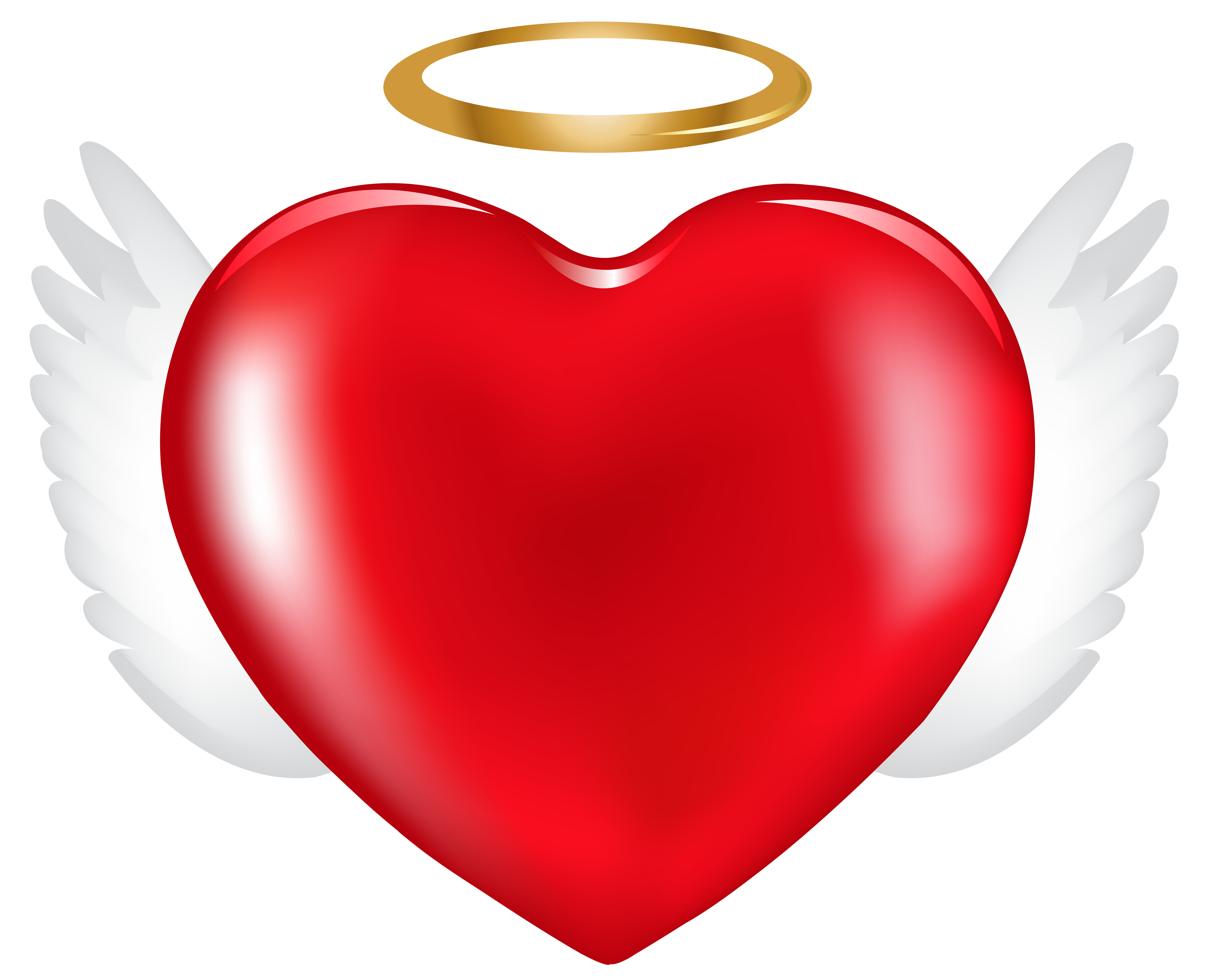 Clipart hearts halloween. Angel heart png clip