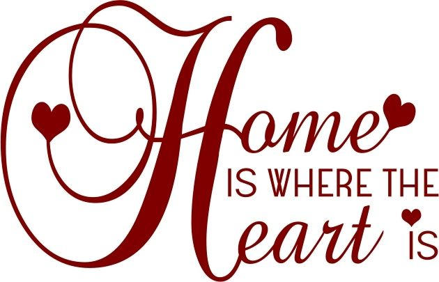 Hearts clipart home. Is where the heart