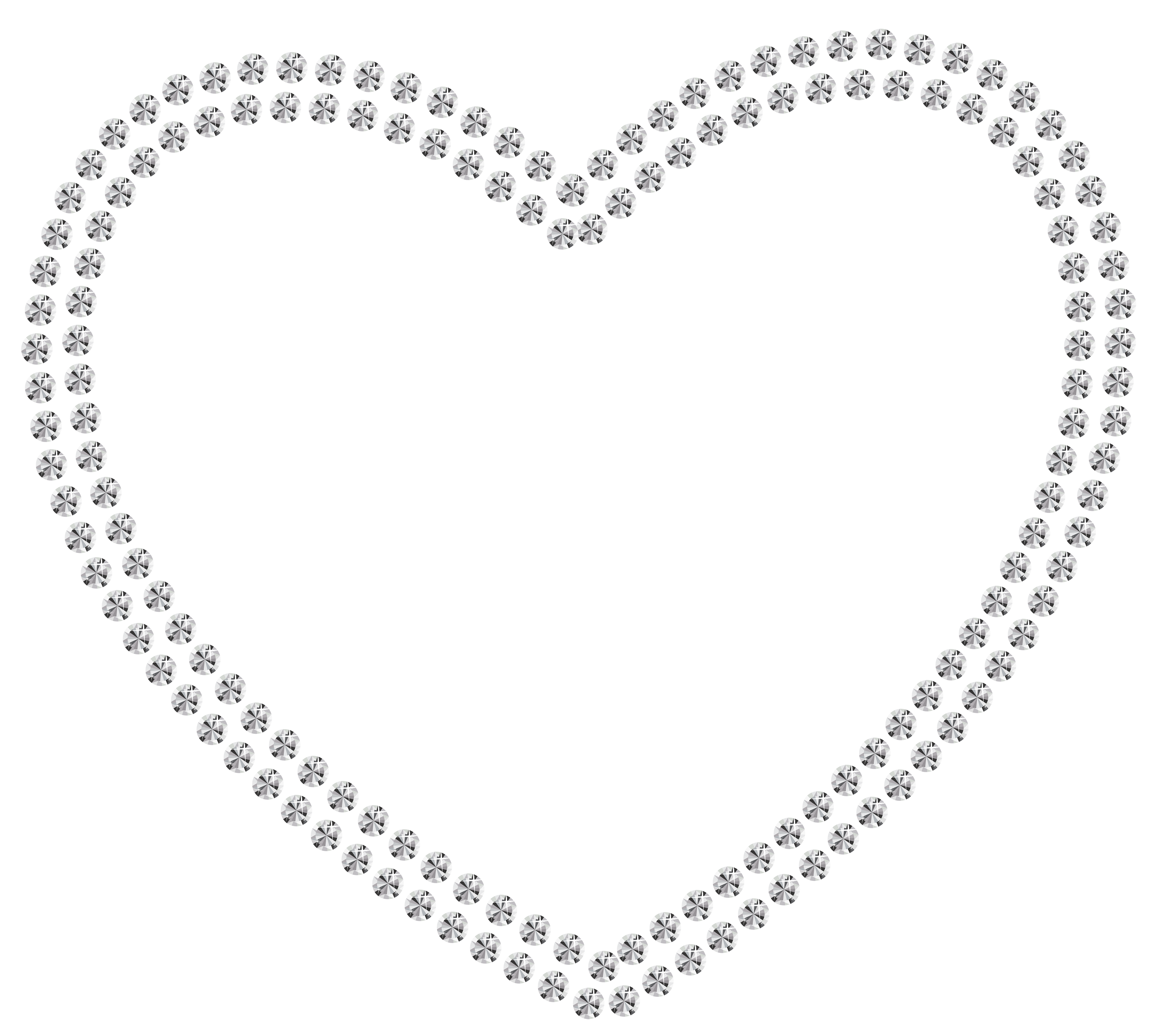 White hearts png. Diamond heart clipart best
