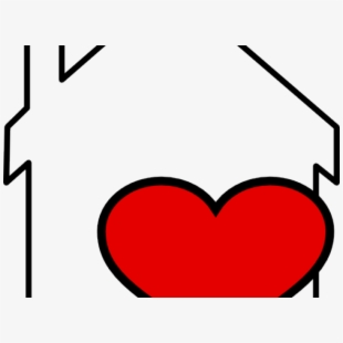 Heart football free on. Hearts clipart house