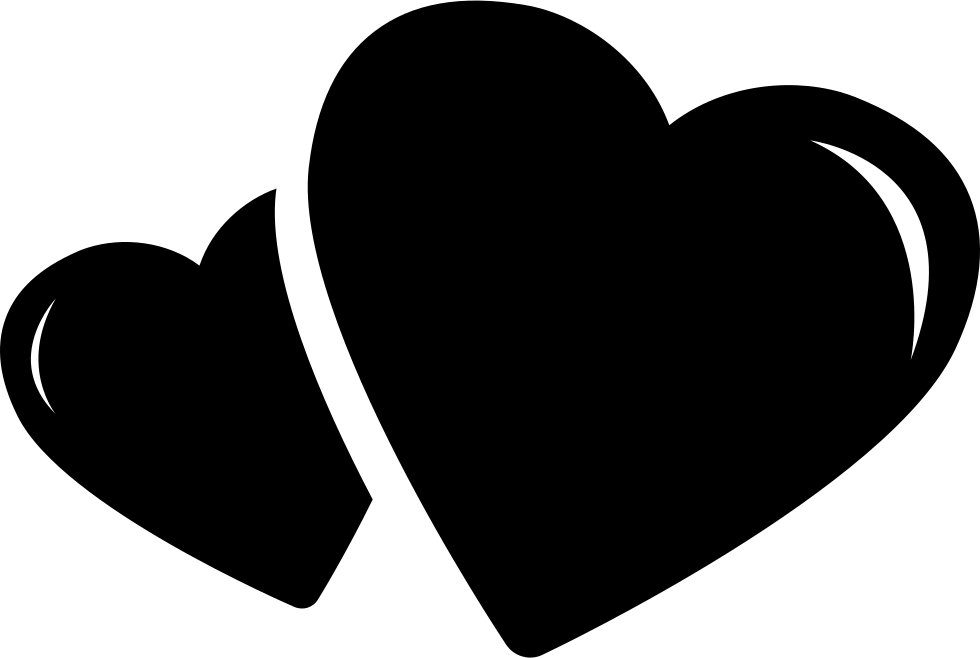 Hearts clipart icon. Two svg png free