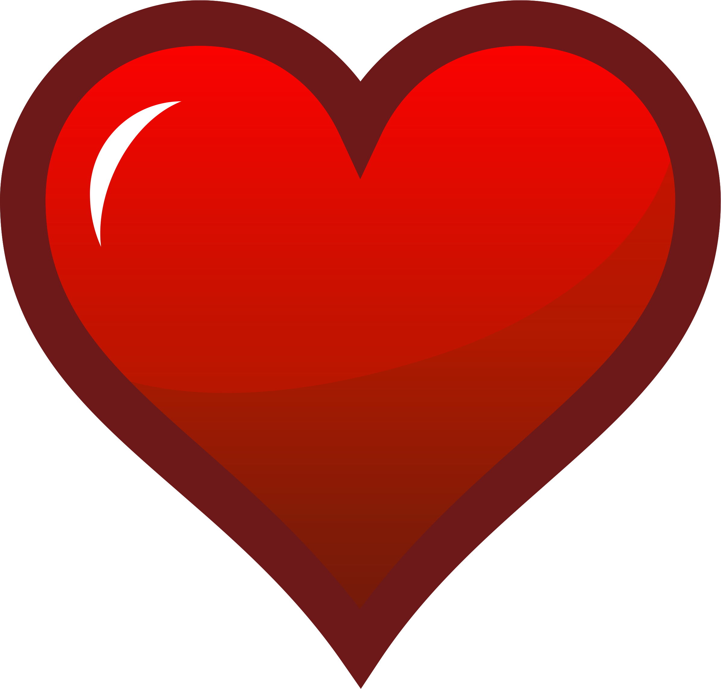 Hearts clipart icon. Red heart big image