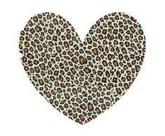 Hearts clipart leopard print. Free cheetah heart cliparts