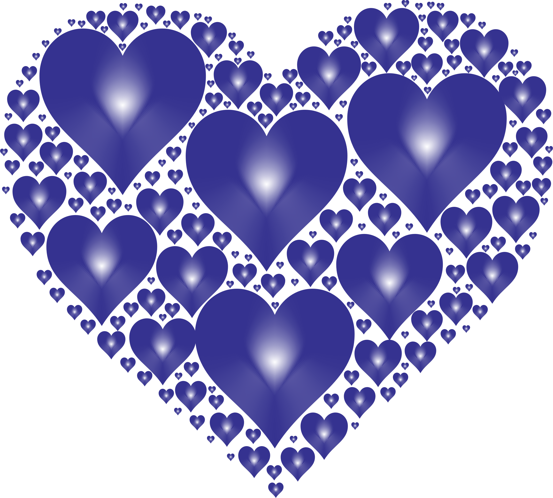Hearts in rejuvenated no. February clipart heart shape design