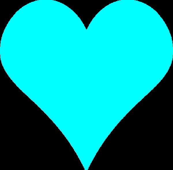 Teal heart clip art. Clipart hearts light blue