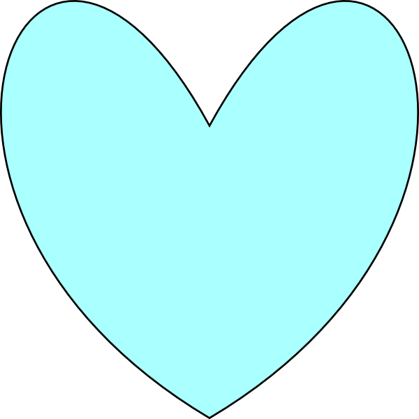 Clipart hearts light blue. Heart clip art at